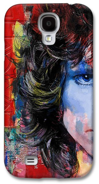 Posters On Paintings Galaxy S4 Cases - Jim Morrison Galaxy S4 Case by Corporate Art Task Force