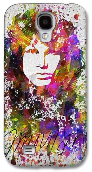 Bedroom Art Digital Art Galaxy S4 Cases - Jim Morrison in Color Galaxy S4 Case by Aged Pixel
