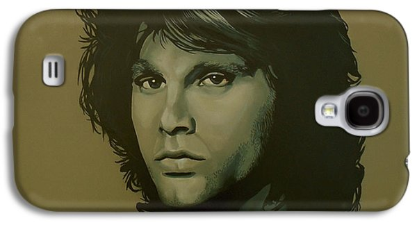 Storms Paintings Galaxy S4 Cases - Jim Morrison Galaxy S4 Case by Paul  Meijering
