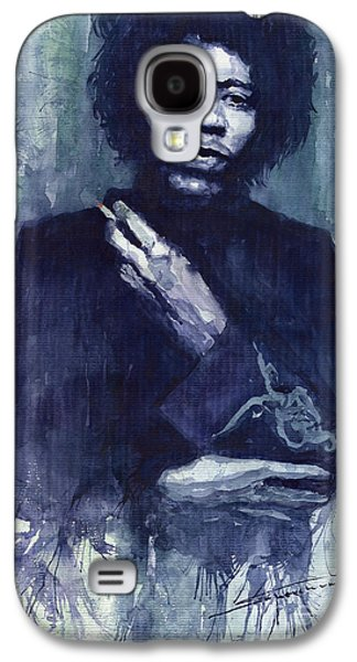 Jimi Hendrix Galaxy S4 Cases - Jimi Hendrix 01 Galaxy S4 Case by Yuriy  Shevchuk