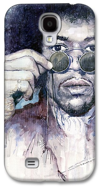 Jimi Hendrix Galaxy S4 Cases - Jimi Hendrix 08 Galaxy S4 Case by Yuriy  Shevchuk