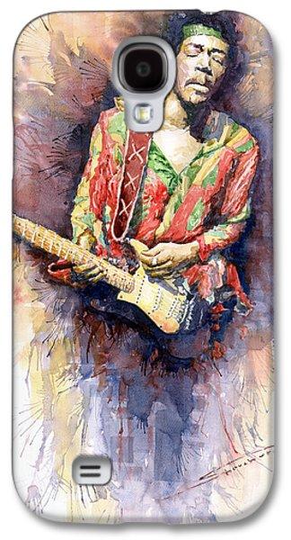 Jimi Hendrix 09 Galaxy S4 Case by Yuriy  Shevchuk