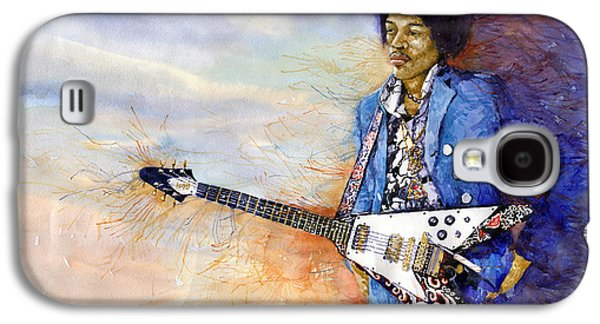 Jimi Hendrix Galaxy S4 Cases - Jimi Hendrix 10 Galaxy S4 Case by Yuriy Shevchuk