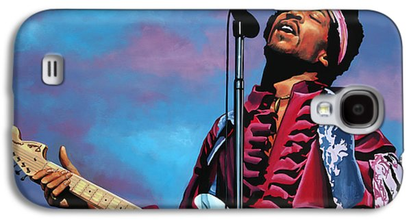 Jimi Hendrix Galaxy S4 Cases - Jimi Hendrix 2 Galaxy S4 Case by Paul  Meijering