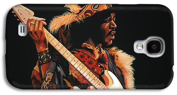 Jimi Hendrix Galaxy S4 Cases - Jimi Hendrix 3 Galaxy S4 Case by Paul  Meijering