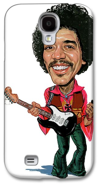 Jimi Hendrix Galaxy S4 Cases - Jimi Hendrix Galaxy S4 Case by Art