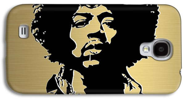 Jimi Hendrix Galaxy S4 Cases - Jimi Hendrix Gold Series Galaxy S4 Case by Marvin Blaine