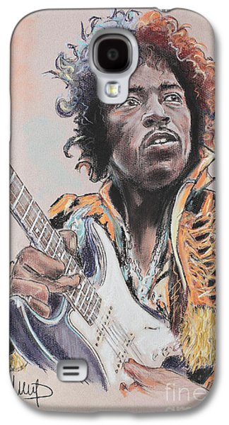 Blue Pastels Galaxy S4 Cases - Jimi Hendrix Galaxy S4 Case by Melanie D