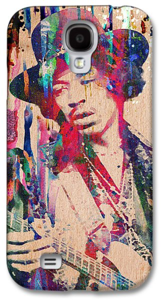 Rock N Roll Paintings Galaxy S4 Cases - Jimi Hendrix Original Galaxy S4 Case by Ryan RockChromatic
