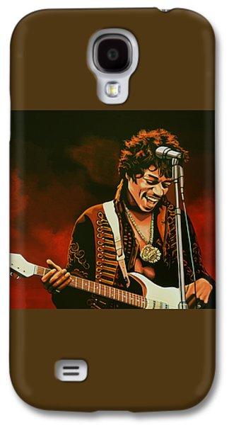 Jimi Hendrix Painting Galaxy S4 Case by Paul Meijering