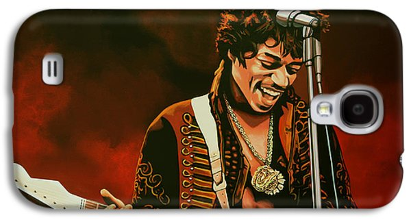 Work Of Art Galaxy S4 Cases - Jimi Hendrix Galaxy S4 Case by Paul  Meijering