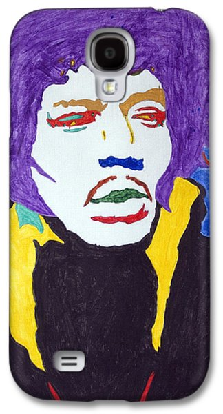 African-american Galaxy S4 Cases - Jimi Hendrix Purple Haze  Galaxy S4 Case by Stormm Bradshaw