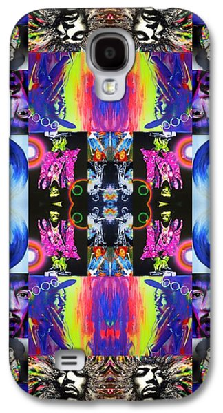 Jimi Hendrix Galaxy S4 Cases - Jimi Kaleidoscope I Galaxy S4 Case by Christian Chapman Art