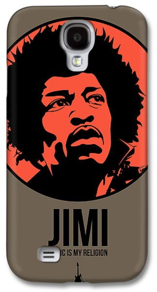 Singer Mixed Media Galaxy S4 Cases - Jimi Poster 1 Galaxy S4 Case by Naxart Studio