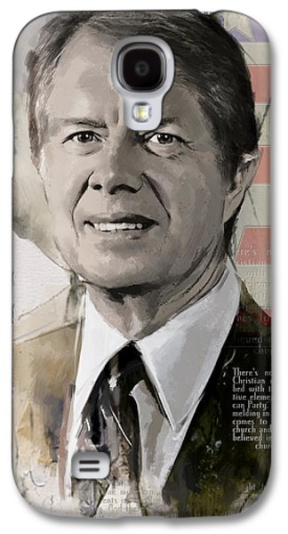 James Buchanan Galaxy S4 Cases - Jimmy Carter Galaxy S4 Case by Corporate Art Task Force