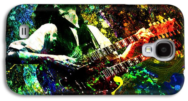 Jimmy Page Galaxy S4 Cases - Jimmy Page - Led Zeppelin - Original Painting Print Galaxy S4 Case by Ryan RockChromatic
