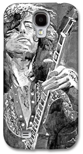 Jimmy Page Mono Galaxy S4 Case by David Lloyd Glover