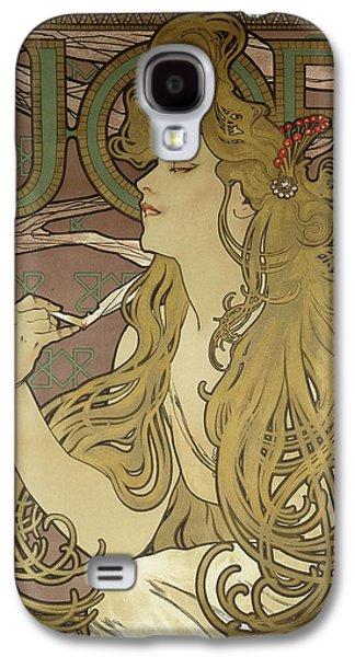 Decorative Photographs Galaxy S4 Cases - Job, 1896 Colour Lithograph On Poster Paper, Framed Galaxy S4 Case by Alphonse Marie Mucha