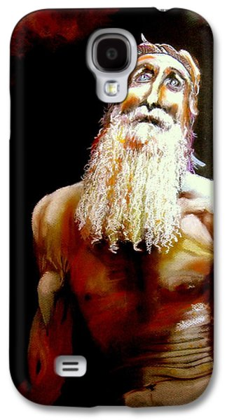 Bible Pastels Galaxy S4 Cases - Job Questions God Galaxy S4 Case by Mike Benton