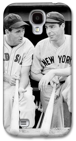 League Galaxy S4 Cases - Joe DiMaggio and Ted Williams Galaxy S4 Case by Gianfranco Weiss