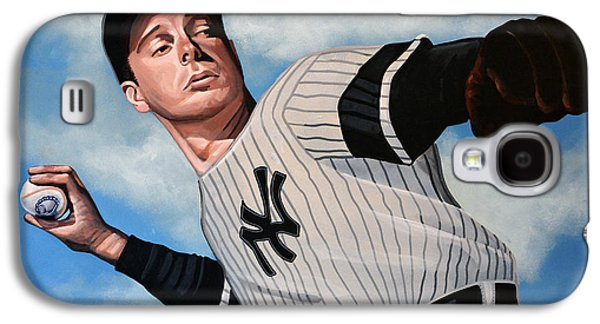 Usa Paintings Galaxy S4 Cases - Joe DiMaggio Galaxy S4 Case by Paul  Meijering