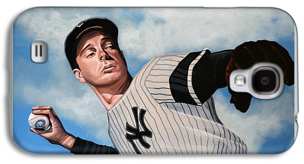 The New York New York Galaxy S4 Cases - Joe DiMaggio Galaxy S4 Case by Paul Meijering