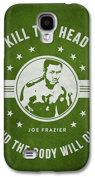 Boxer Digital Galaxy S4 Cases - Joe Frazier - Green Galaxy S4 Case by Aged Pixel