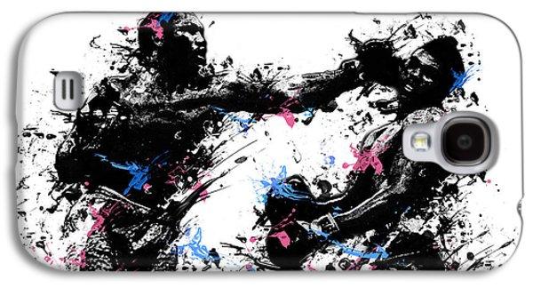 Boxer Digital Art Galaxy S4 Cases - Joe Frazier Galaxy S4 Case by MB Art factory
