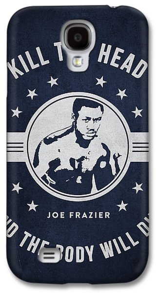 Heavyweight Galaxy S4 Cases - Joe Frazier - Navy Blue Galaxy S4 Case by Aged Pixel