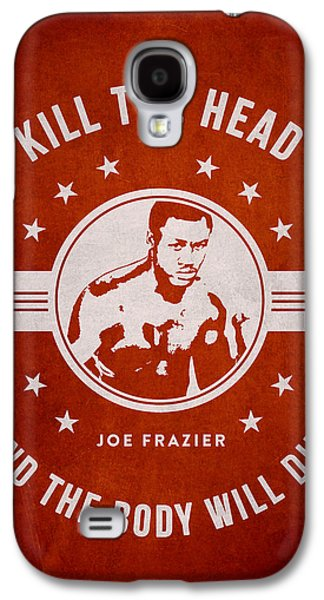 Heavyweight Galaxy S4 Cases - Joe Frazier - Red Galaxy S4 Case by Aged Pixel