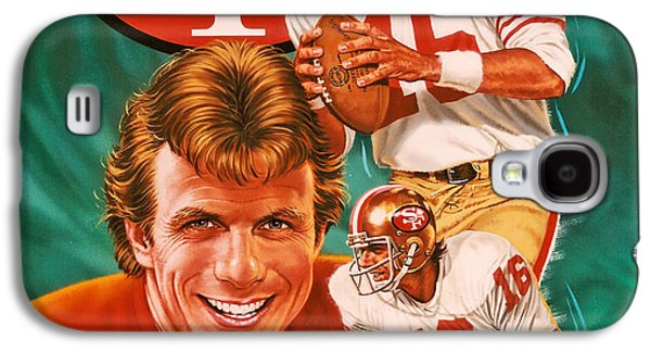 Pro Football Galaxy S4 Cases - Joe Montana Galaxy S4 Case by Dick Bobnick