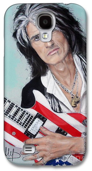 Celebrities Pastels Galaxy S4 Cases - Joe Perry Galaxy S4 Case by Melanie D