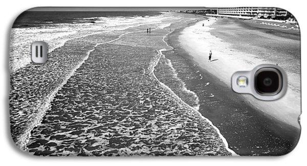 Jogging Galaxy S4 Cases - Jogging at Folly Beach Galaxy S4 Case by John Rizzuto