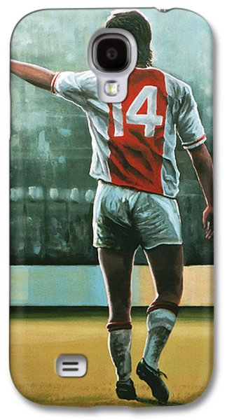 Johan Cruijff Nr 14 Painting Galaxy S4 Case by Paul Meijering