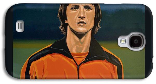 Los Angeles Paintings Galaxy S4 Cases - Johan Cruyff Oranje Galaxy S4 Case by Paul  Meijering
