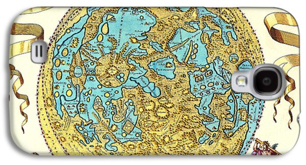 Planetoid Galaxy S4 Cases - Johannes Hevelius Moon Map 1647 Galaxy S4 Case by Science Source
