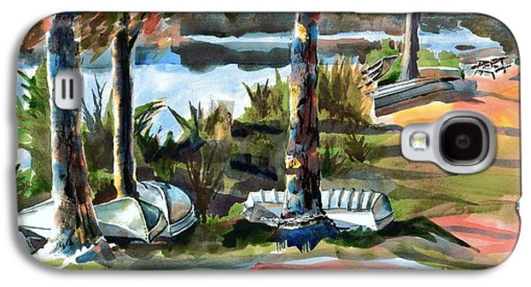 Canoe Mixed Media Galaxy S4 Cases - John Boats and Row Boats Galaxy S4 Case by Kip DeVore