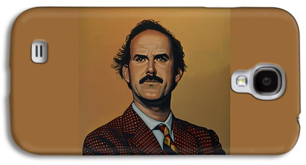 British Celebrities Galaxy S4 Cases - John Cleese Galaxy S4 Case by Paul  Meijering