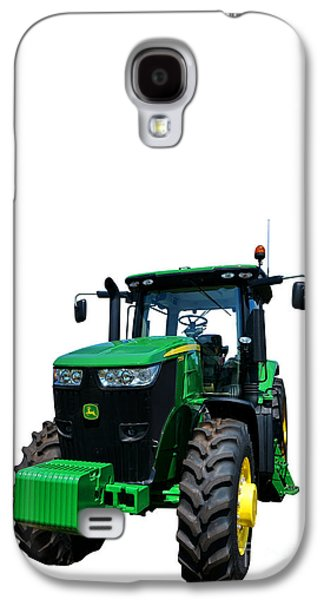 Equipment Galaxy S4 Cases - John Deere 7215R Galaxy S4 Case by Olivier Le Queinec