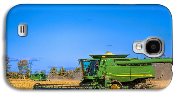 Small Photographs Galaxy S4 Cases - John Deere 9770 Galaxy S4 Case by Olivier Le Queinec