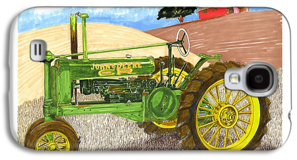 Tractor Prints Galaxy S4 Cases - John Deere at rest Galaxy S4 Case by Jack Pumphrey