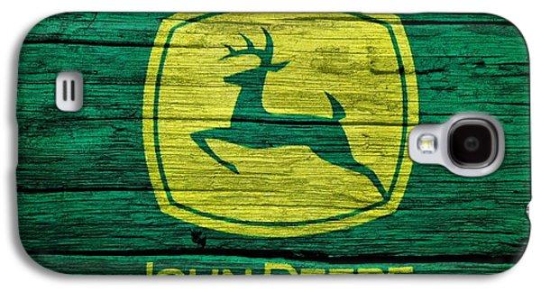 Plow Galaxy S4 Cases - John Deere Barn Door Galaxy S4 Case by Dan Sproul