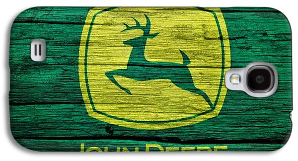 Barn Doors Galaxy S4 Cases - John Deere Barn Door Galaxy S4 Case by Dan Sproul