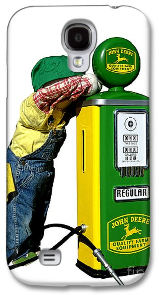 Mechanic Galaxy S4 Cases - John Deere Kid Galaxy S4 Case by Olivier Le Queinec