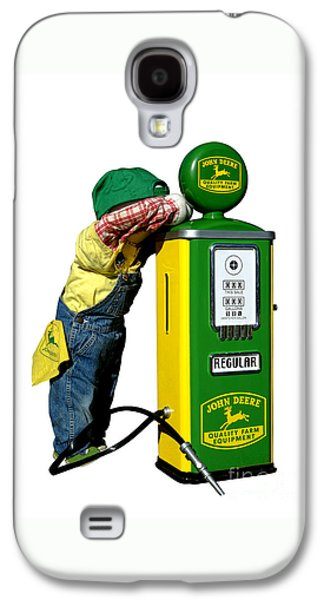 Mechanics Galaxy S4 Cases - John Deere Kid Galaxy S4 Case by Olivier Le Queinec