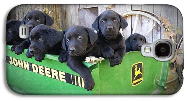 Puppy Digital Galaxy S4 Cases - John Deere Puppies Galaxy S4 Case by Jalen Cooper