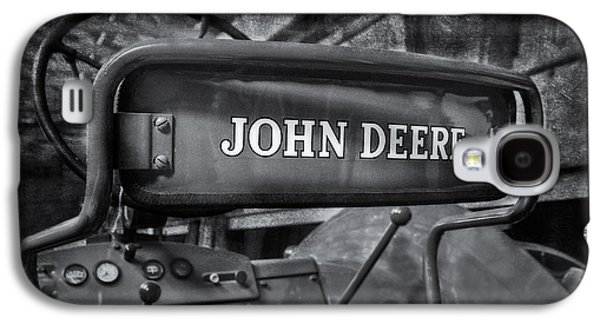 Machinery Galaxy S4 Cases - John Deere Tractor BW Galaxy S4 Case by Susan Candelario