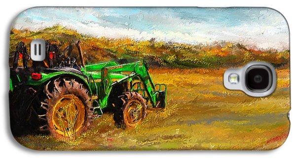 Harvest Art Galaxy S4 Cases - John Deere Tractor- John Deere Art Galaxy S4 Case by Lourry Legarde