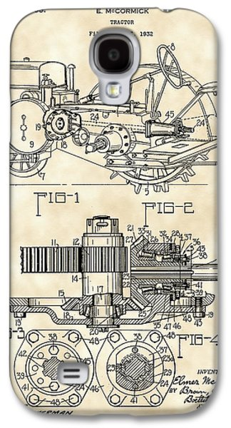Machinery Galaxy S4 Cases - John Deere Tractor Patent 1932 - Vintage Galaxy S4 Case by Stephen Younts