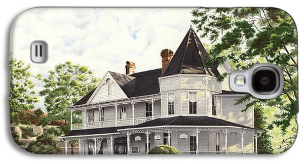 Historic Home Drawings Galaxy S4 Cases - John Dunn House Ocala Florida Galaxy S4 Case by Richard Devine